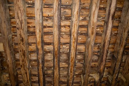 Ceiling of a room in Guedelon castle Stock Photo - 7634466