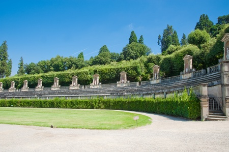 Boboli Gardens in Florence Italy Stock Photo