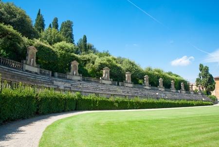 Boboli Gardens in Florence Italy Stock Photo