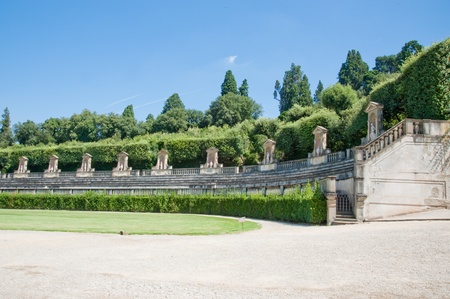 Boboli-Gärten in Florenz Italien Standard-Bild - 8428034