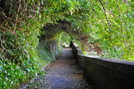 Passageway next to River Wear in Durham, England