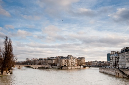 Paris and River Seine Stock Photo