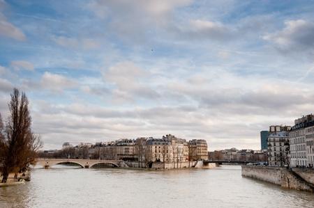 Paris and River Seine Standard-Bild