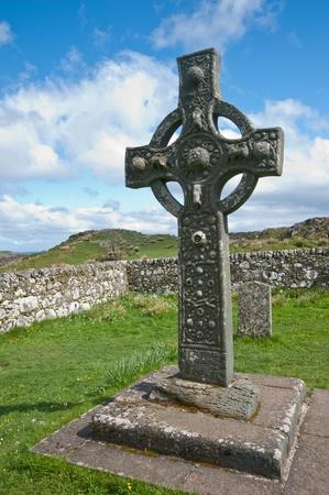 churchyard: Kildalton cross and parish churchyard