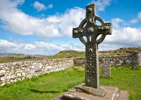 Kildalton cross and parish churchyard