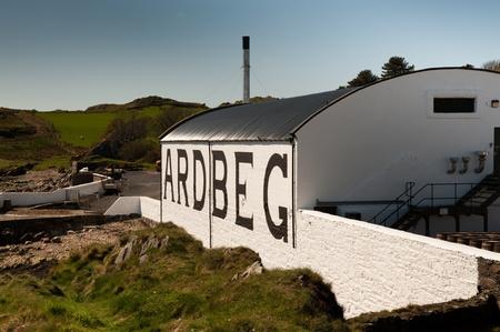 Ardbeg distillery on Islay Editorial