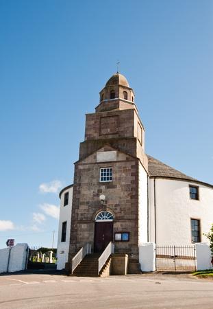Round church on isle of Islay