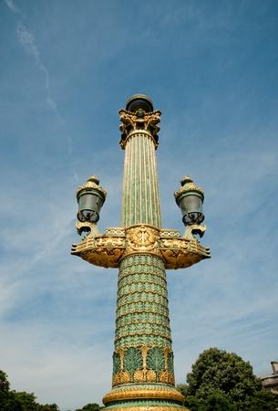 Lamp in Paris France photo