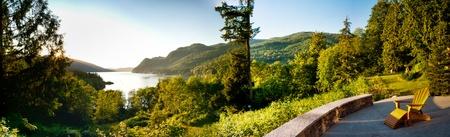 Panoramic image of Lake Whatcom Stock Photo