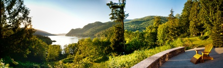 Panoramic image of Lake Whatcom Stock Photo