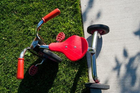 Tricycle in park