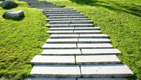 Steps in a city park