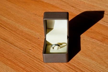 Ring in jewelry box