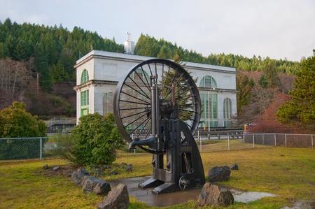 flywheel: Old disused hydroelectric flywheel