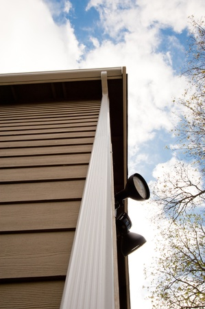 Downspout on an urban house