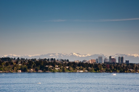 washington landscape: View of Lake Washington