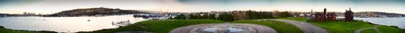 Panoramic image of Gasworks Park and Lake Union photo
