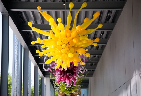 chihuly: Blown glass by Dale Chihuly in the Chihuly Garden and Glass, Seattle WA