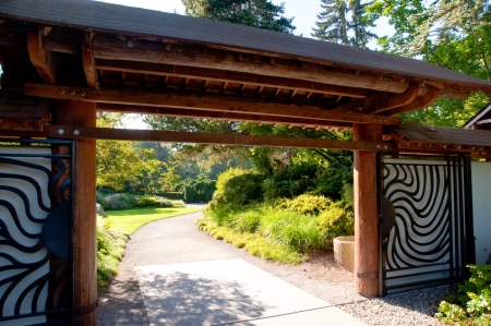 Entrance to Kubota Garden in Seattle WA photo