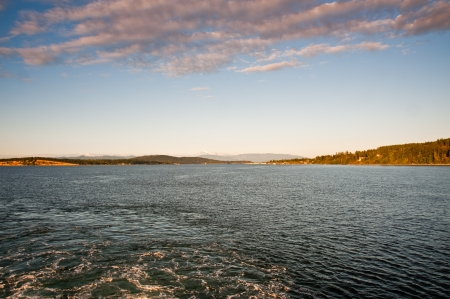 puget: Mount Baker and Puget Sound seen from a ferry