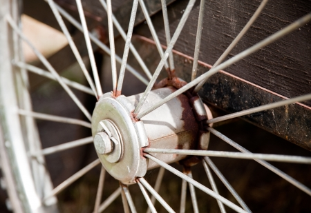 Close-up of bicycle spokes Stock Photo - 17861217