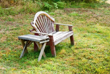 Old bench and table in a field Stock Photo - 17861238