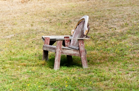 Old bench and table in a field Stock Photo - 17861221