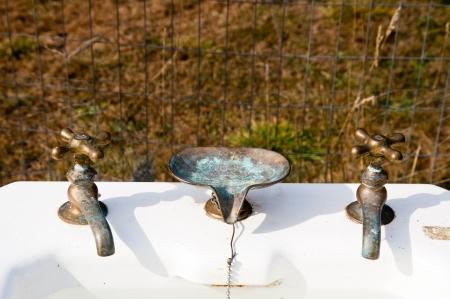 Antique pedestal sink Stock Photo - 17861290