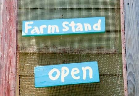 Farm stand sign Stock fotó