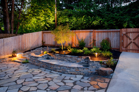 serene landscape: Urban backyard