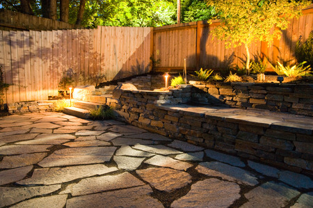 hardscape: Urban backyard