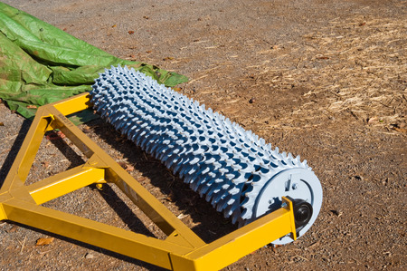 aerator: Agricultural aerator used in a vineyard Stock Photo