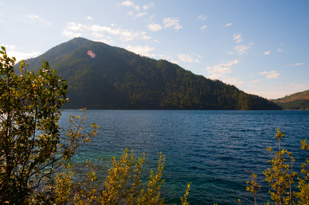 in wa: Lake Crescent in the Olympic Peninsula, WA state