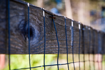Detail of a farm fence