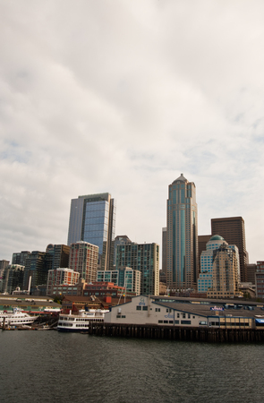 View of downtown Seattle, WA Editorial