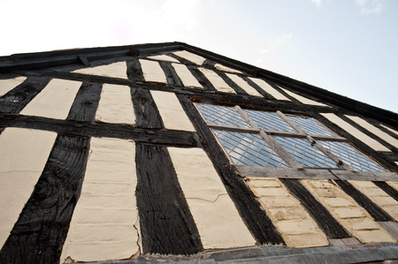 Half-timbered building in the United Kingdom Standard-Bild