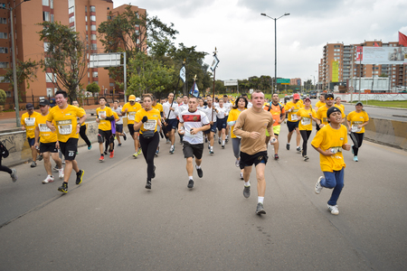 Bogota Colombia. (May 06, 2018). From the youngest to the oldest, they went running in support of our Colombian heroes. Editorial