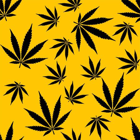 Cannabis marijuana weed repeat pattern fabric textile gift wrap background texture wallpaper vector