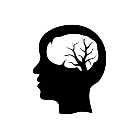 Head Brain Tree Nervous System Logo Icon Symbol