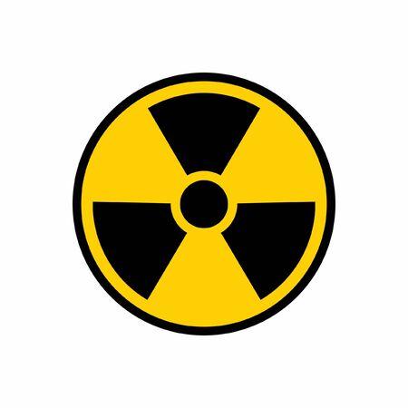 Radioactive Nuclear Danger Warning Logo Symbol