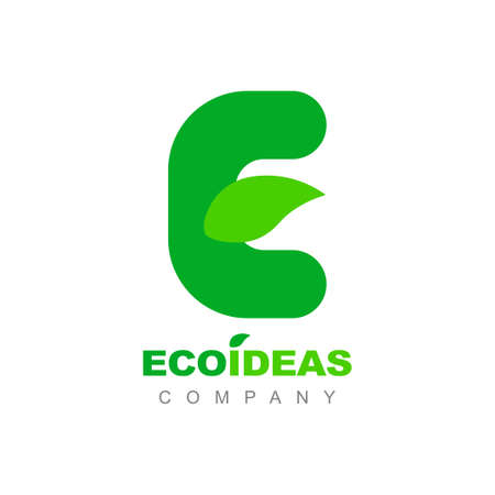 Letter E Eco Green Leaf Ecology Logo Symbol Vector