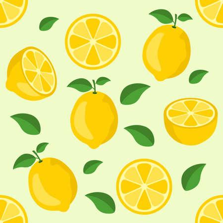 Lemon citrus repeat pattern fabric gift wrap wall texture background vector Vektorgrafik