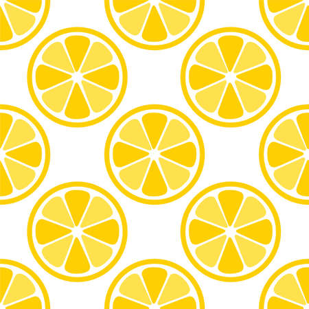 Lemon Orange citrus repeat pattern fabric gift wrap wall texture background vector