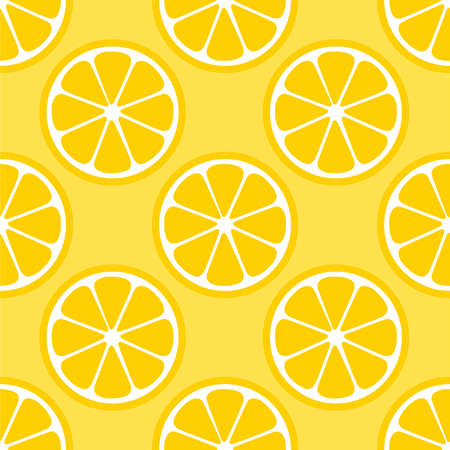 Lemon Orange citrus repeat pattern fabric gift wrap wall texture yellow background vector Ilustrace