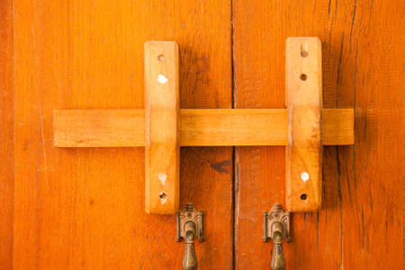 Old Rusty Door Lock On An Ailing Wooden Gate Stock Photo, Picture ...