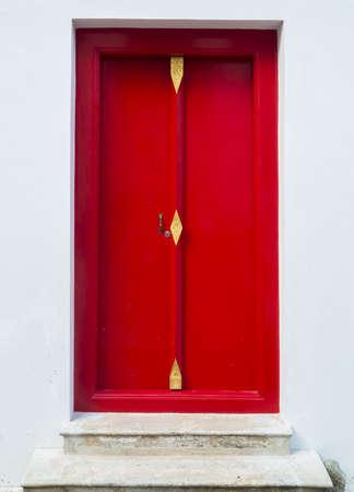 Close up red door  photo