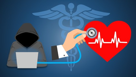 Illustration of healthcare or medical data breach on protected healthcare information (PHI). Cyber security healthcare concept and Healthcare Information Portability and Accountability Act (HIPAA)