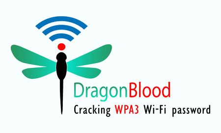 Vector illustration of dragonfly and wifi signal symbol. The symbol for a Dragon Blood, for a cracking WPA3 WiFi password
