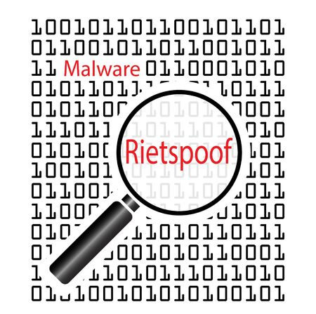 Vector illustration of Rietspoof Malware. Rietspoof malware spreads via media social messenger spam. Reklamní fotografie