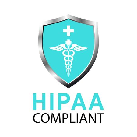 Vector illustration of Healthcare Information Portability and Accountability Act (HIPAA) compliant. Protected Healthcare Information (PHI).